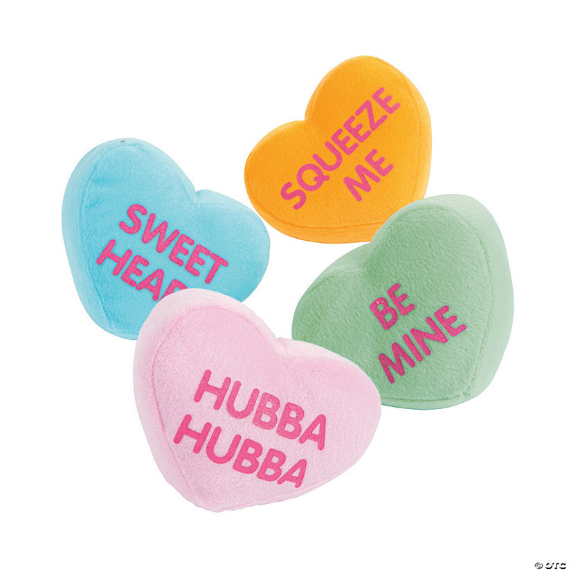 Plush Conversation Hearts