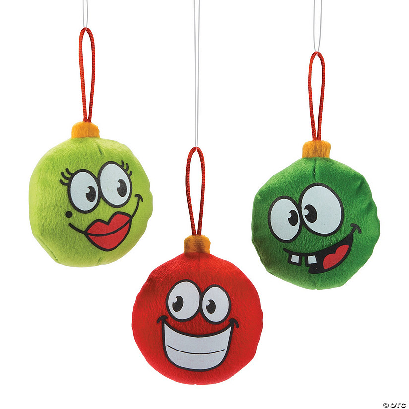 Plush Funny Face Christmas Ornaments Discontinued