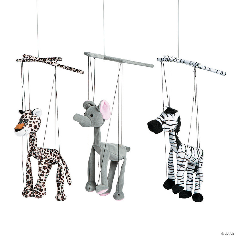 Plush Safari Animal Marionette Puppets
