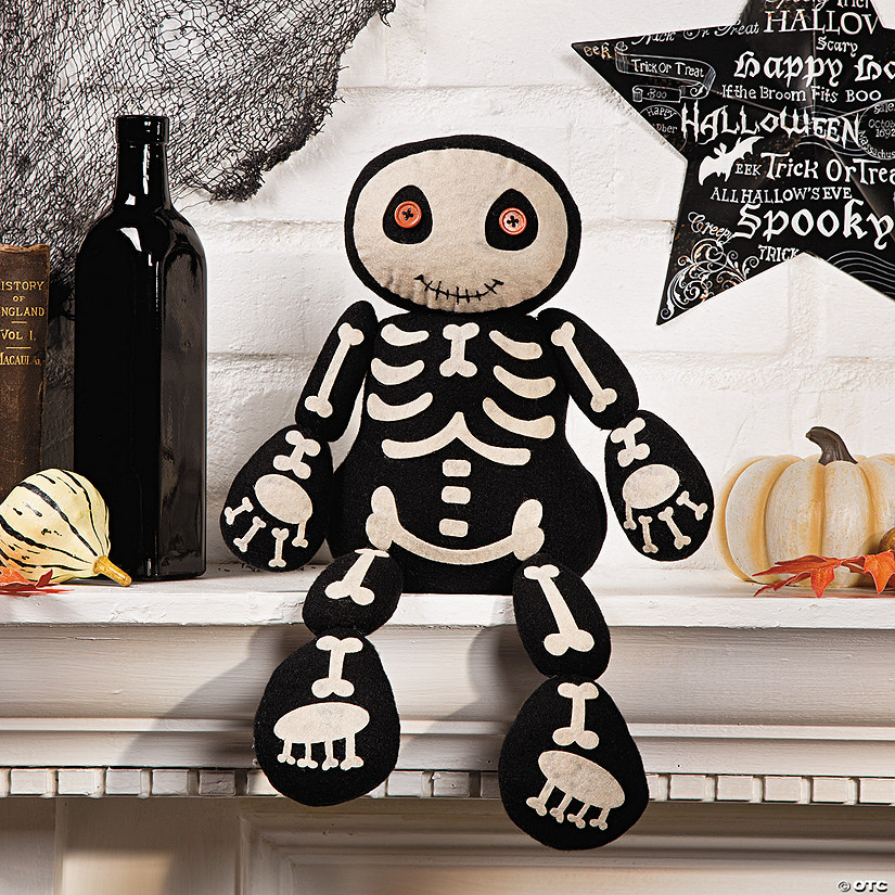 Plush Skeleton Shelf Sitter Halloween Décor