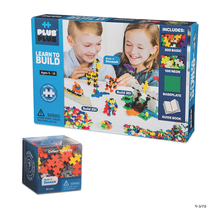 PlusPlus Learn To Build Set plus FREE Mystery Kit: Basic Colors Image Thumbnail