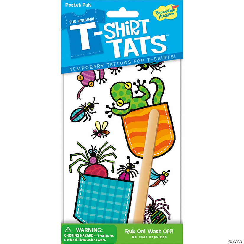 Pocket Pal Bugs T-Shirt Tats Pack