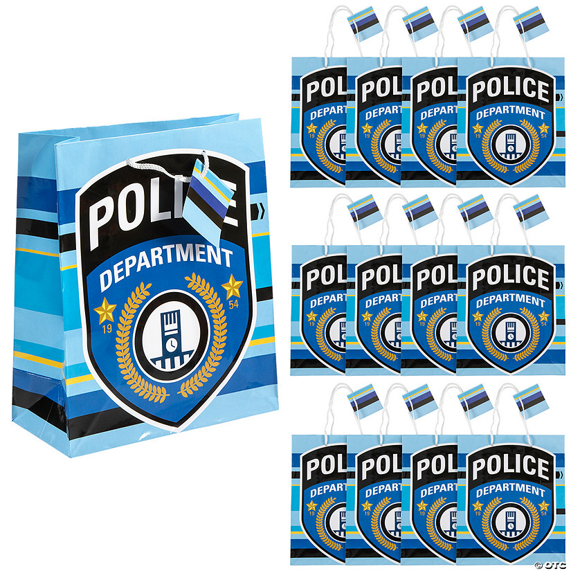 Police Party Medium Gift Bags Audio Thumbnail