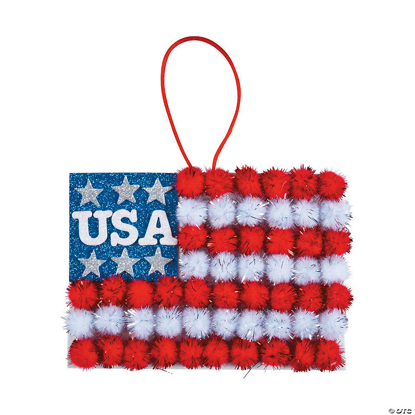 Pom-Pom Flag Sign Craft Kit
