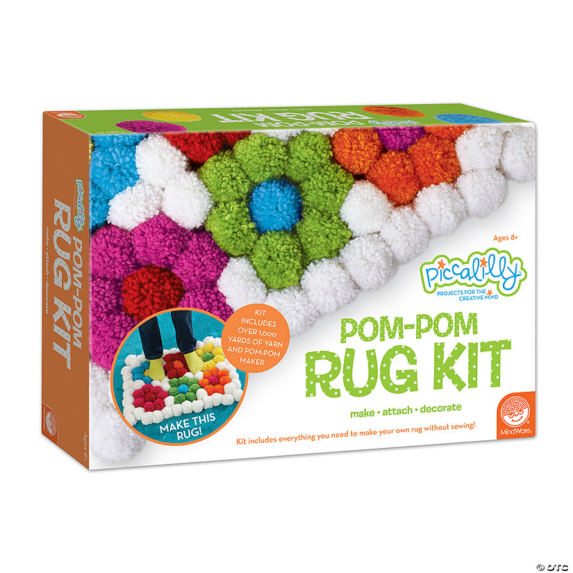 Pom-Pom Rug Kit-In Box