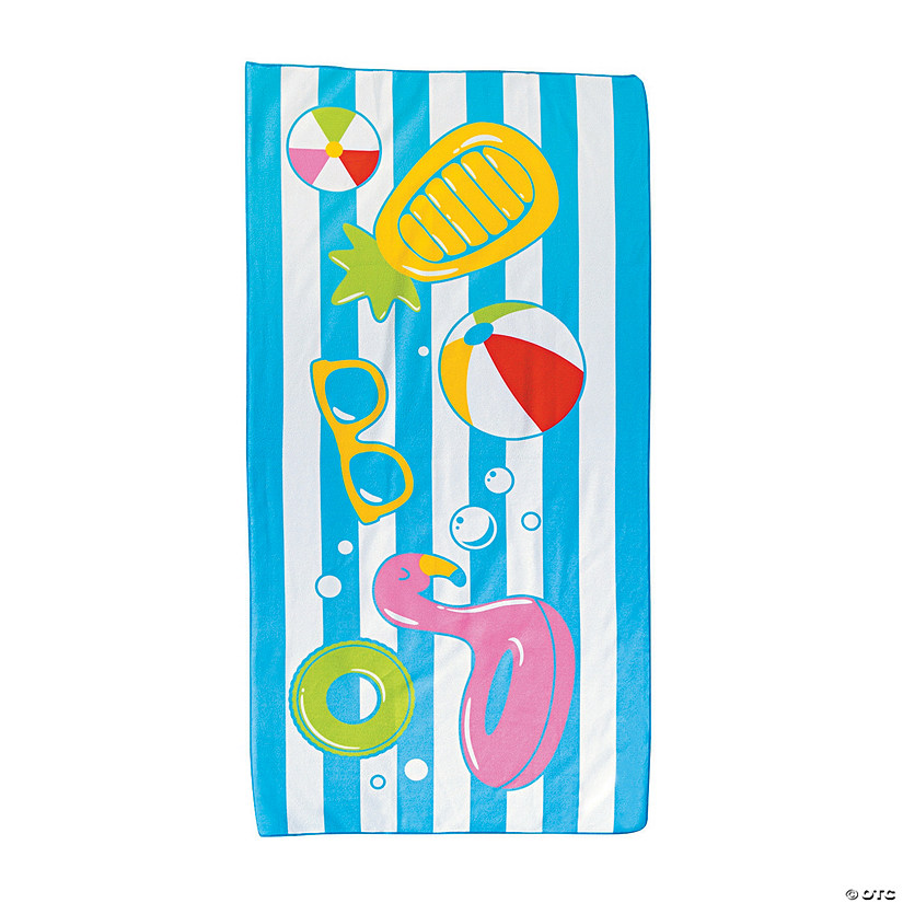 Pool Party Beach Towel Image Thumbnail