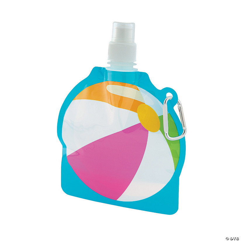 Pool Party Collapsible Water Bottles Image Thumbnail