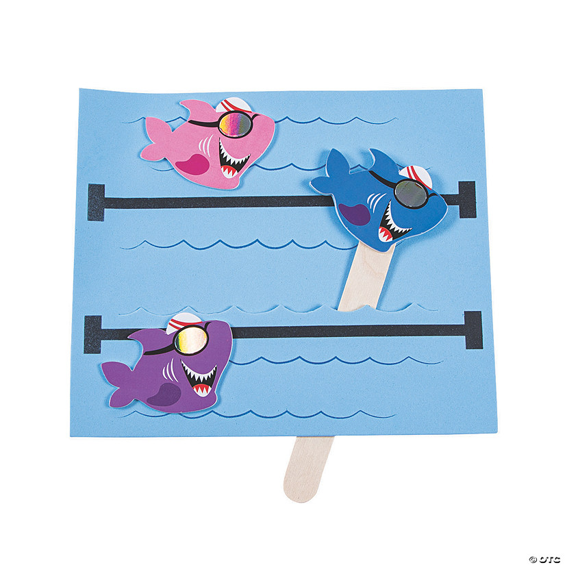 Pool Shark Swimmer Pop-Up Craft Kit Image Thumbnail