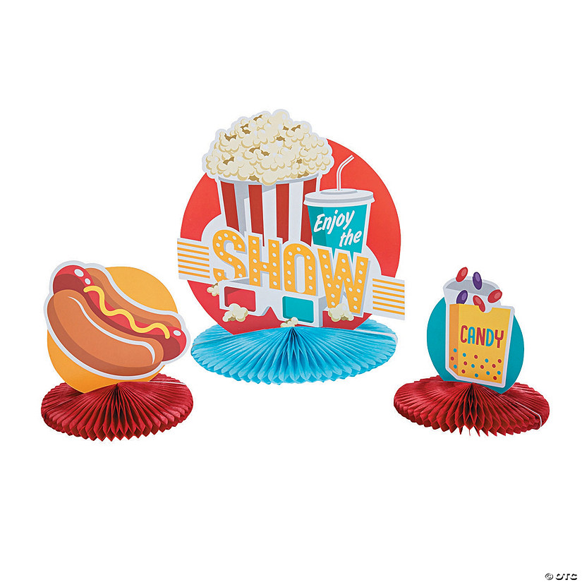 Popcorn Party Centerpieces