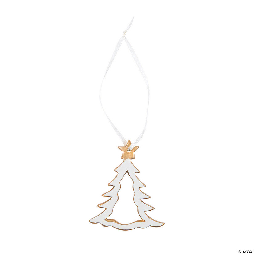 Porcelain Christmas Tree Ornaments with Gold Trim Audio Thumbnail
