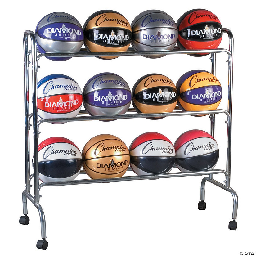 Portable Ball Rack 3 Tier Holds 12