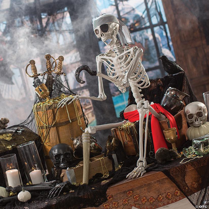 Posable Pirate Skeleton Halloween Décor