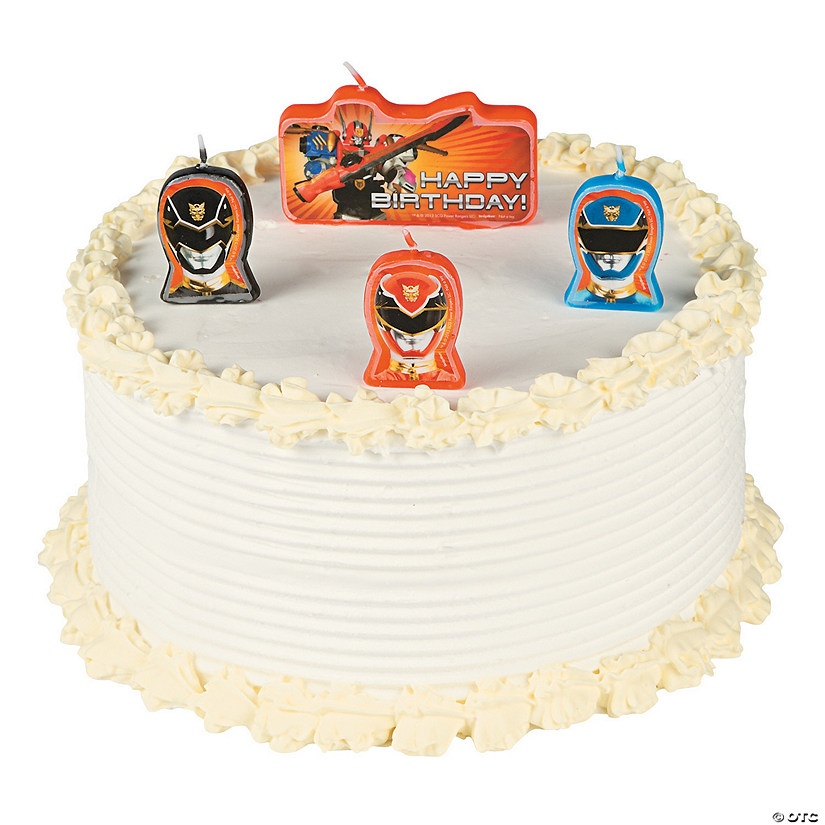 Astonishing Power Rangers Megaforce Candle Set Discontinued Funny Birthday Cards Online Inifodamsfinfo
