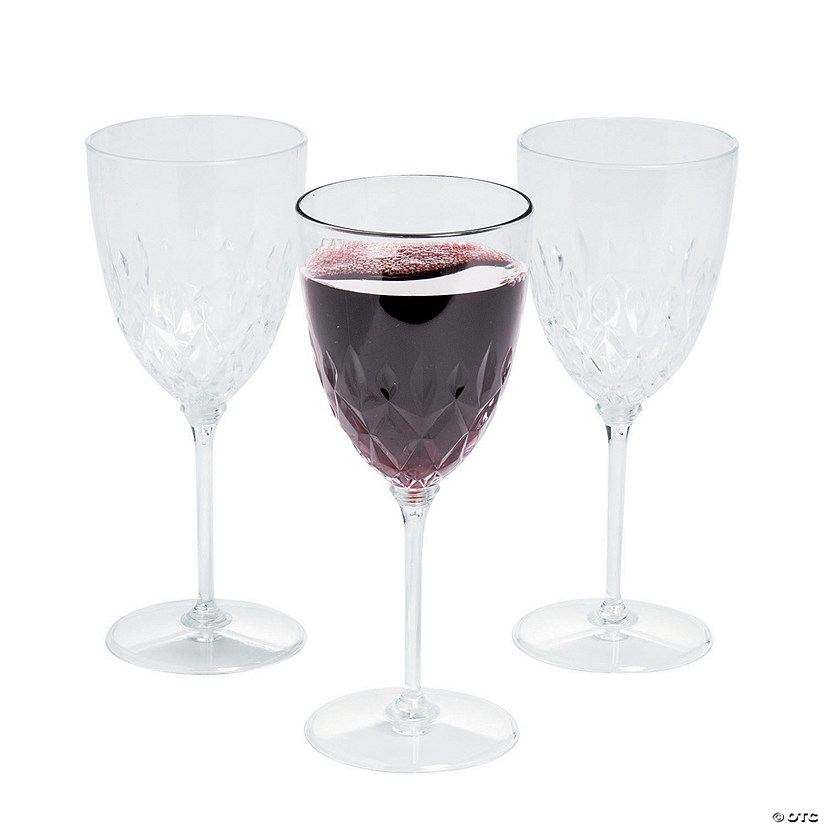 Premium Clear Crystal Plastic Wine Glasses