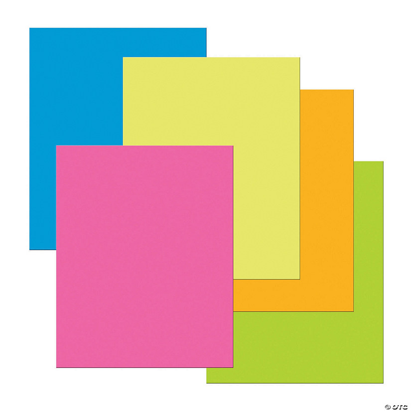 "Premium Coated Poster Board, 5 Assorted Neon Colors, 22"" x 28"", 25 Sheets Audio Thumbnail"