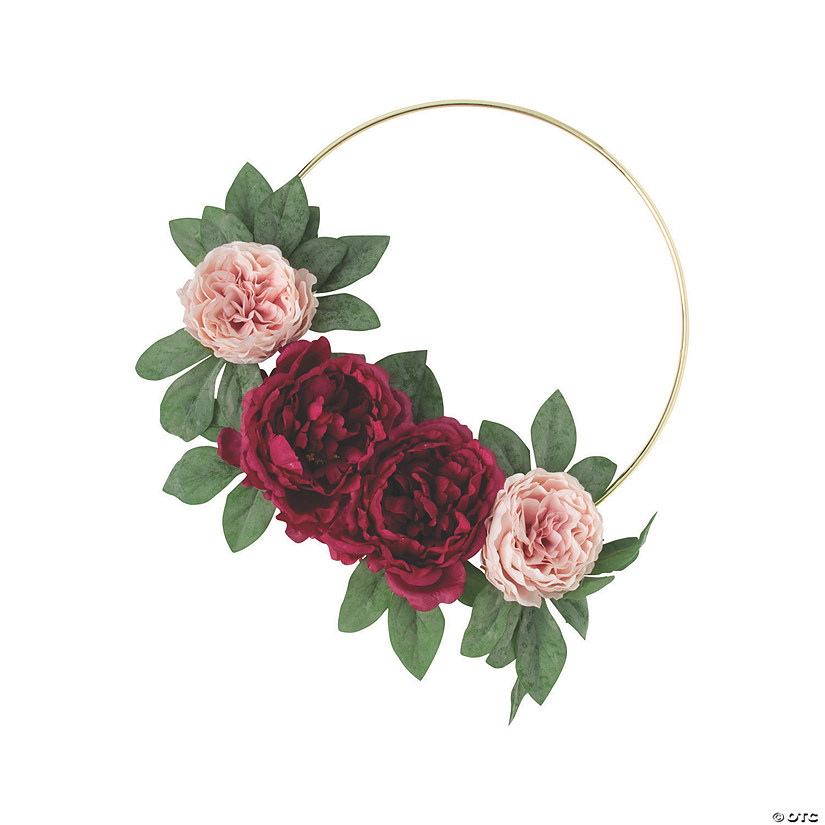 Premium Gold Hoop Decoration with Burgundy Peonies Audio Thumbnail