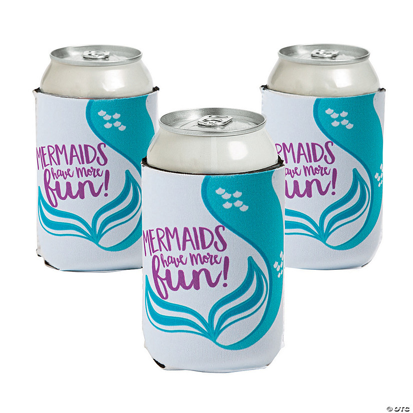 Premium Mermaids Have More Fun Neoprene Can Coolers