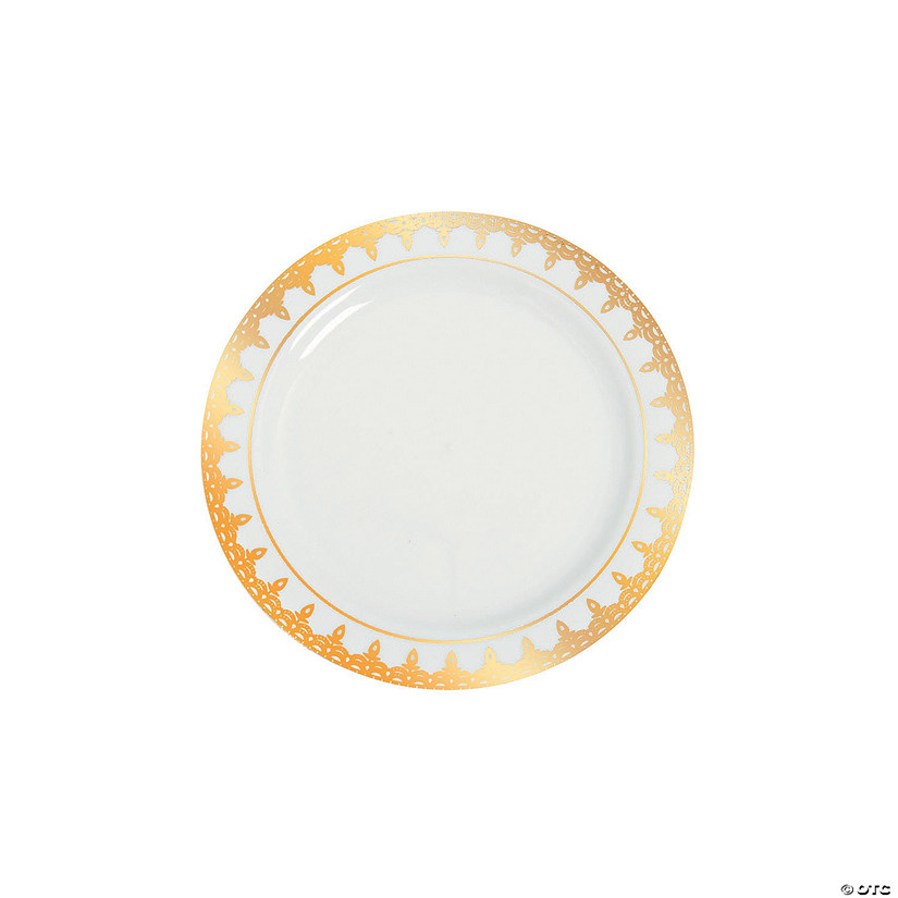 Premium Plastic Ornate Gold Trim Dessert Plates Audio Thumbnail