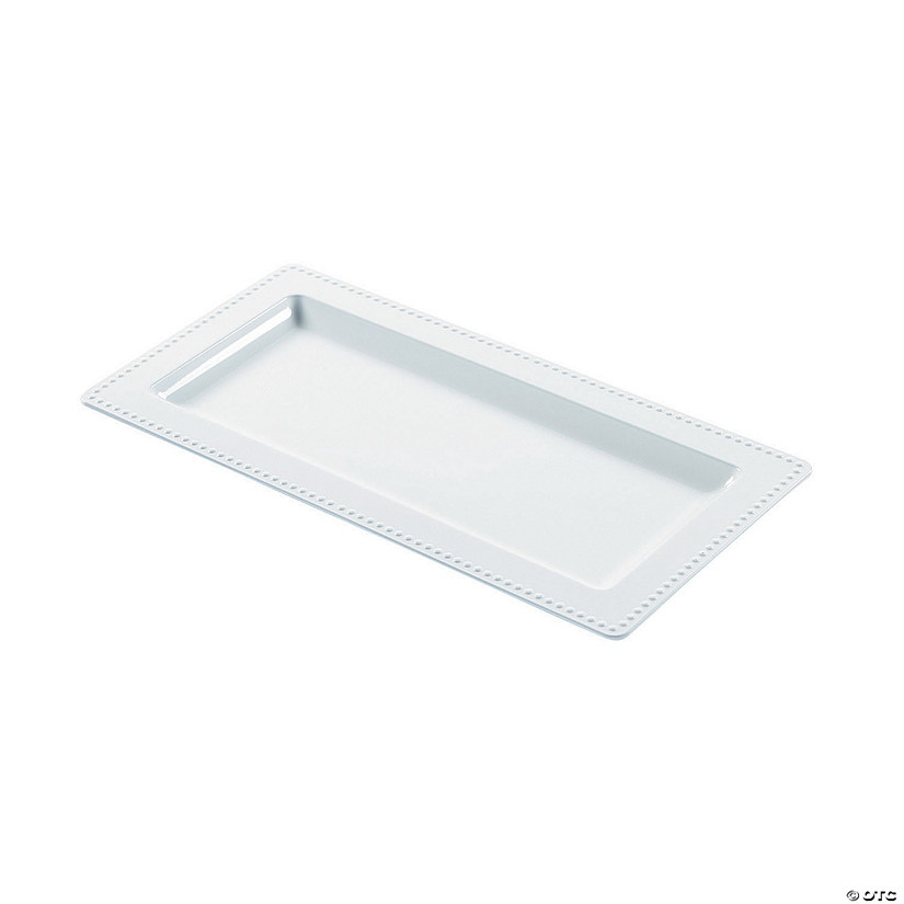 Premium Plastic White Rectangular Serving Trays