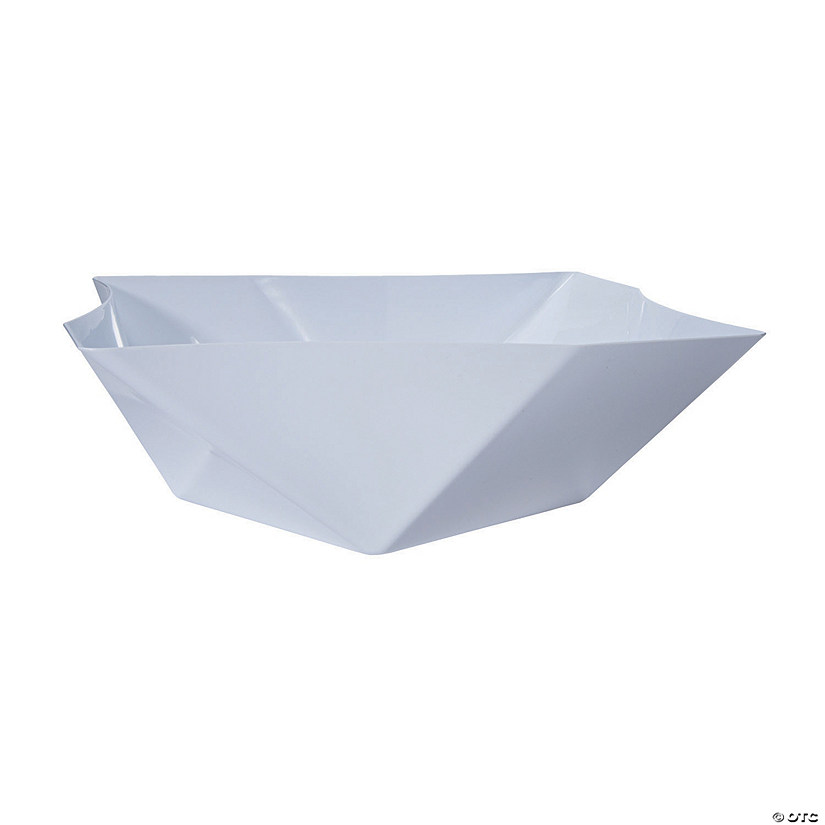 Premium Plastic White Twisted Large Serving Bowl Audio Thumbnail