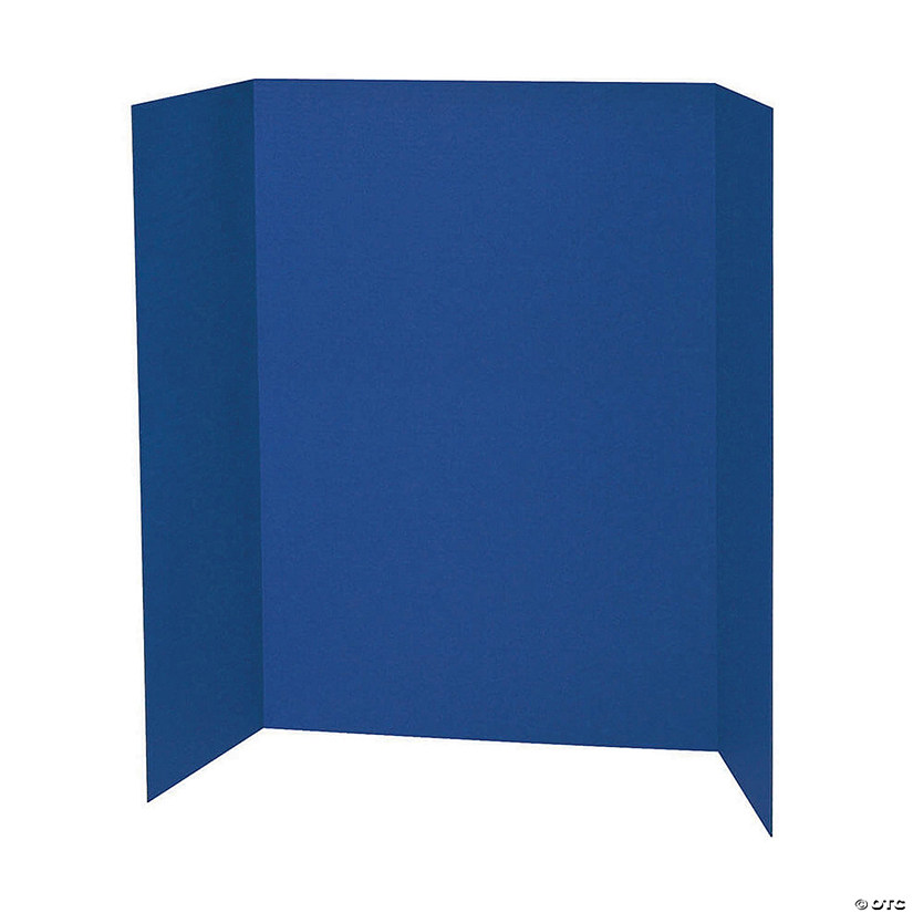 "Presentation Board, Blue, Single Wall, 48"" x 36"", Pack of 6 Audio Thumbnail"