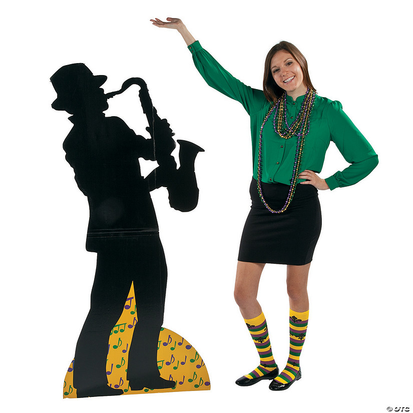 Preservation Hall Saxophone Player Cardboard Stand-Up Audio Thumbnail