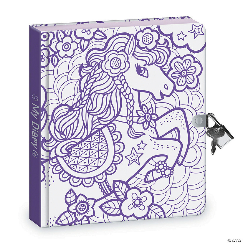 Pretty Pony Coloring Diary Image Thumbnail