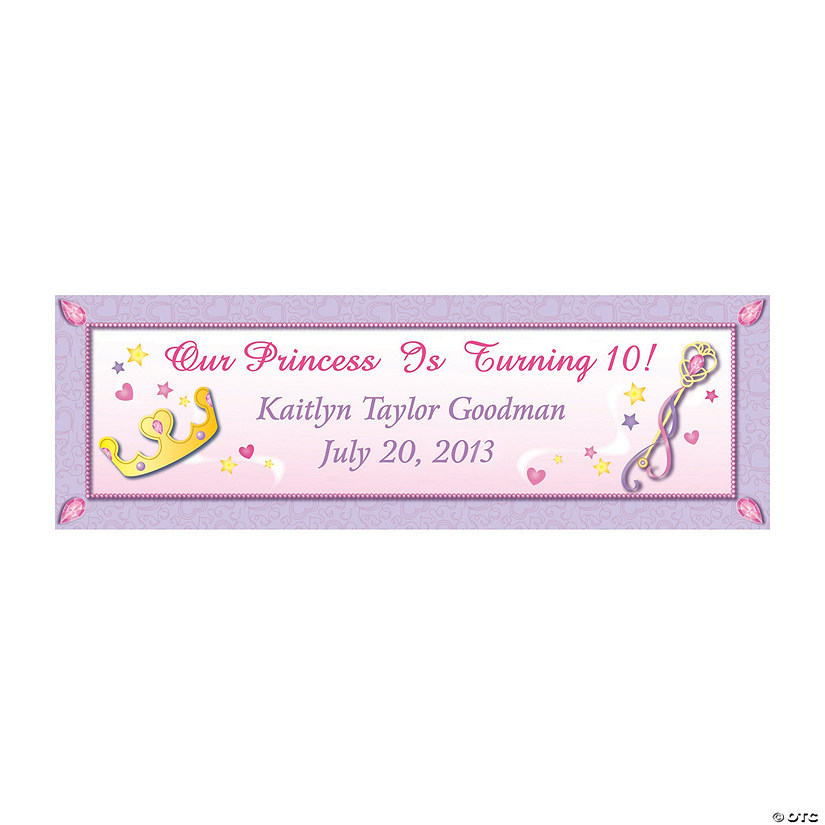 Princess Party Custom Banner