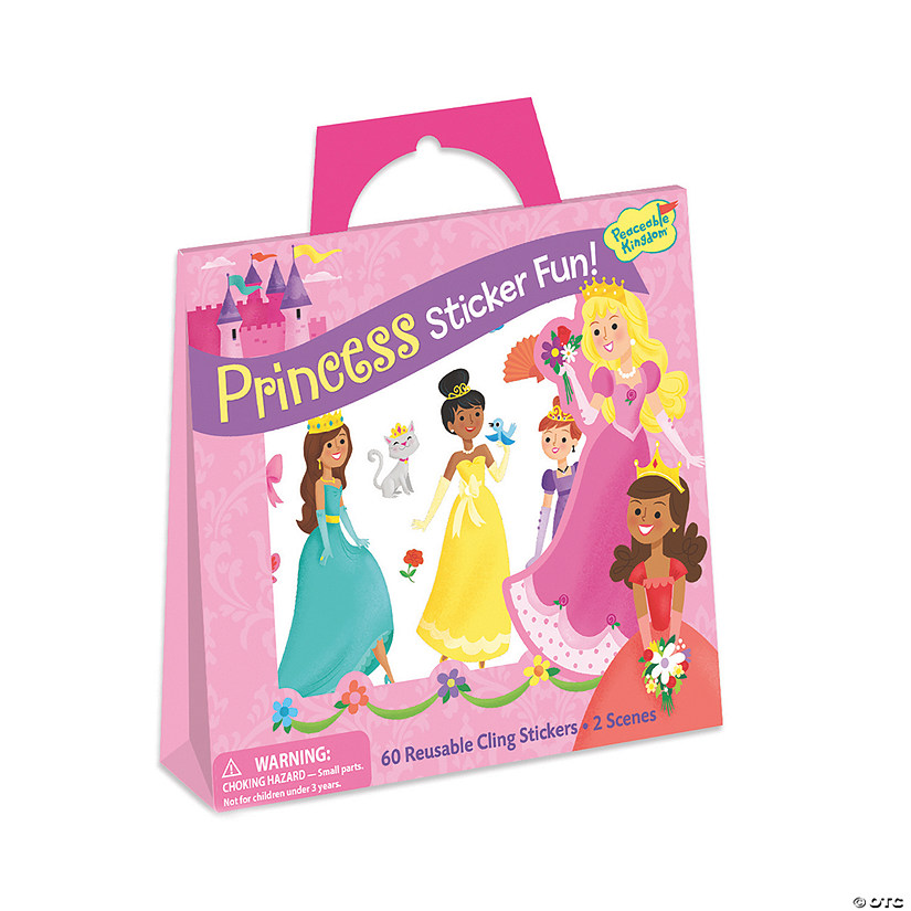 Princess Reusable Sticker Tote Image Thumbnail