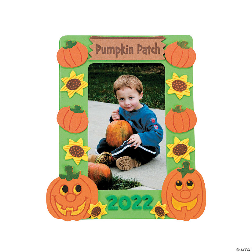 Pumpkin Patch Picture Frame Magnet Craft Kit Image Thumbnail