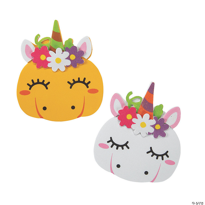 Pumpkin Unicorn Magnet Craft Kit Image Thumbnail