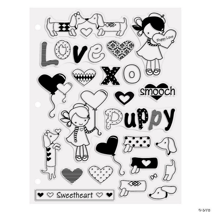 Puppy Love Clear Stamps Image Thumbnail
