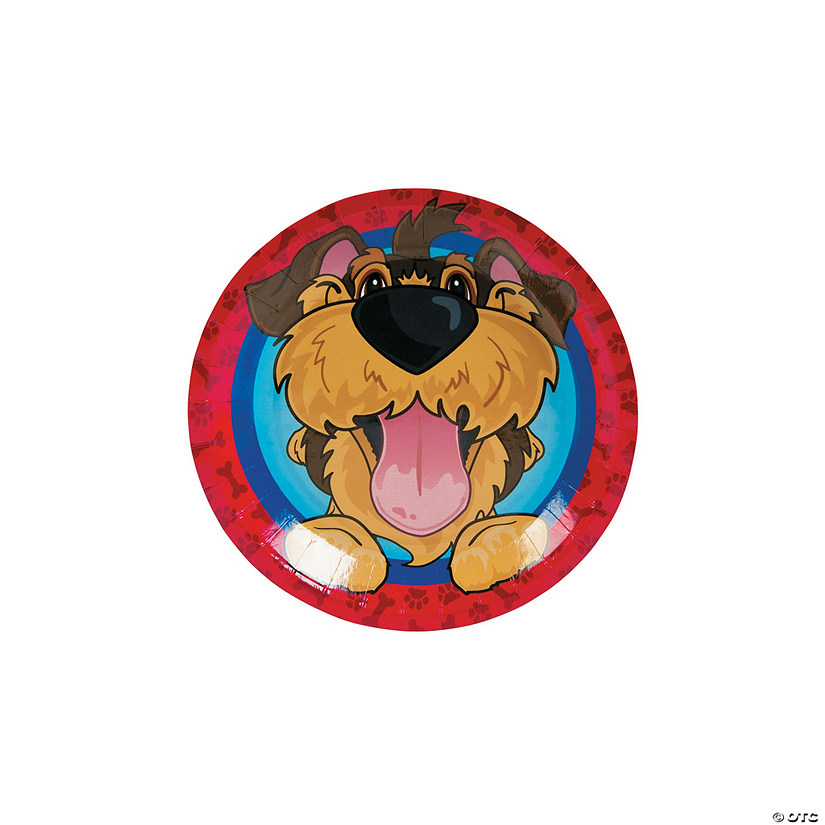 Puppy Party Paper Dessert Plates - 8 Ct. Image Thumbnail