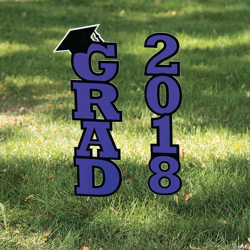 Purple 2018 Grad Yard Sign