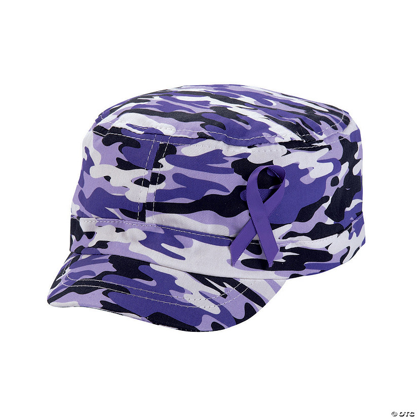 Purple Awareness Ribbon Camouflage Hats Audio Thumbnail