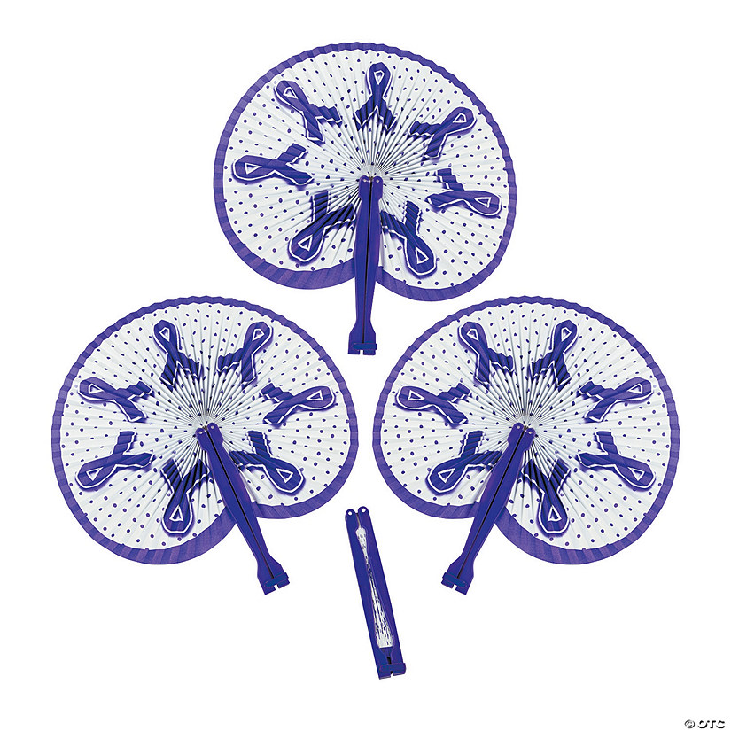 Purple Awareness Ribbon Folding Fans Audio Thumbnail
