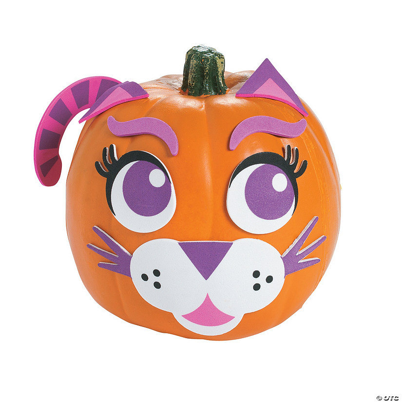 Purple Cat Pumpkin Decorating Craft Kit Audio Thumbnail