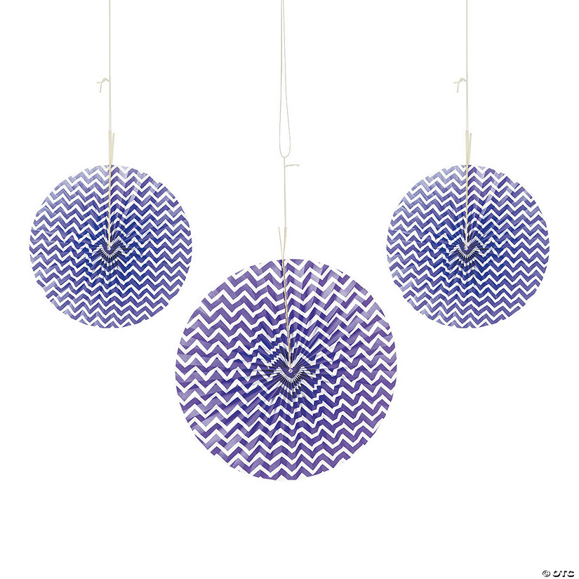 Purple Chevron Hanging Fans Audio Thumbnail