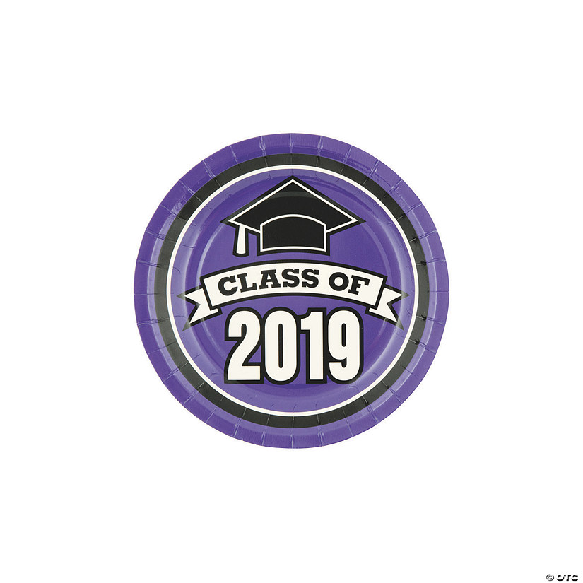Purple Class of 2019 Paper Dessert Plates Audio Thumbnail