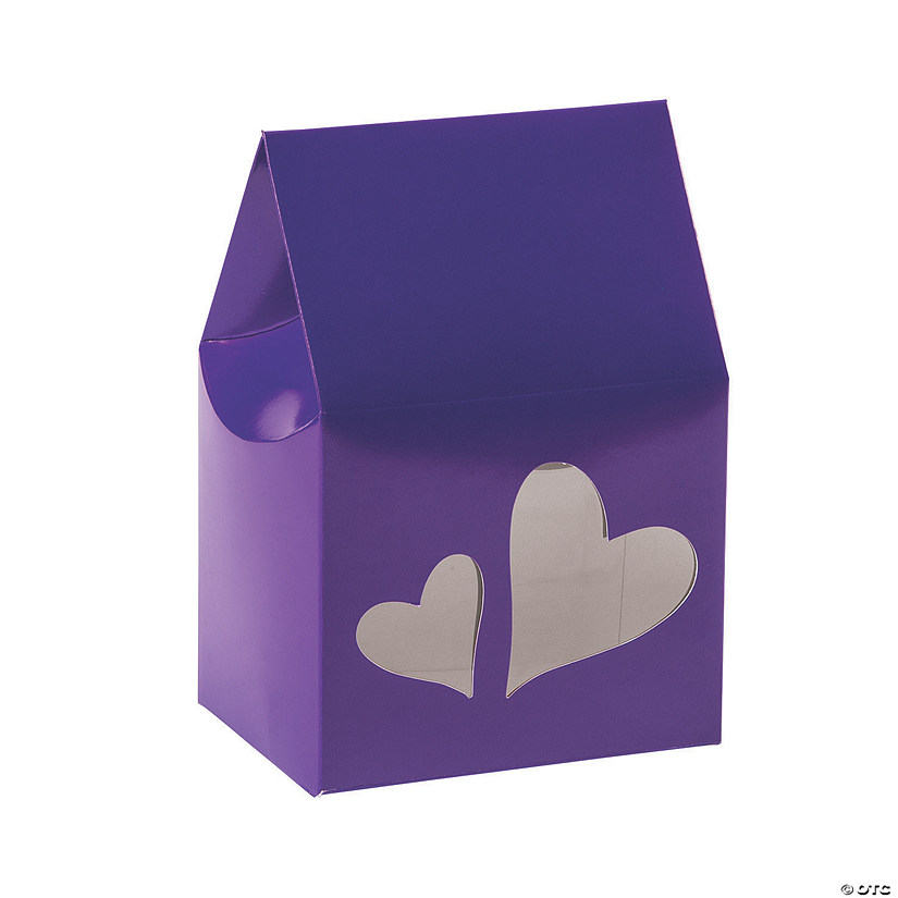 Purple Favor Boxes with Heart Cutouts Audio Thumbnail