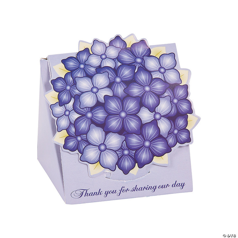 Purple Hydrangea Favor Boxes