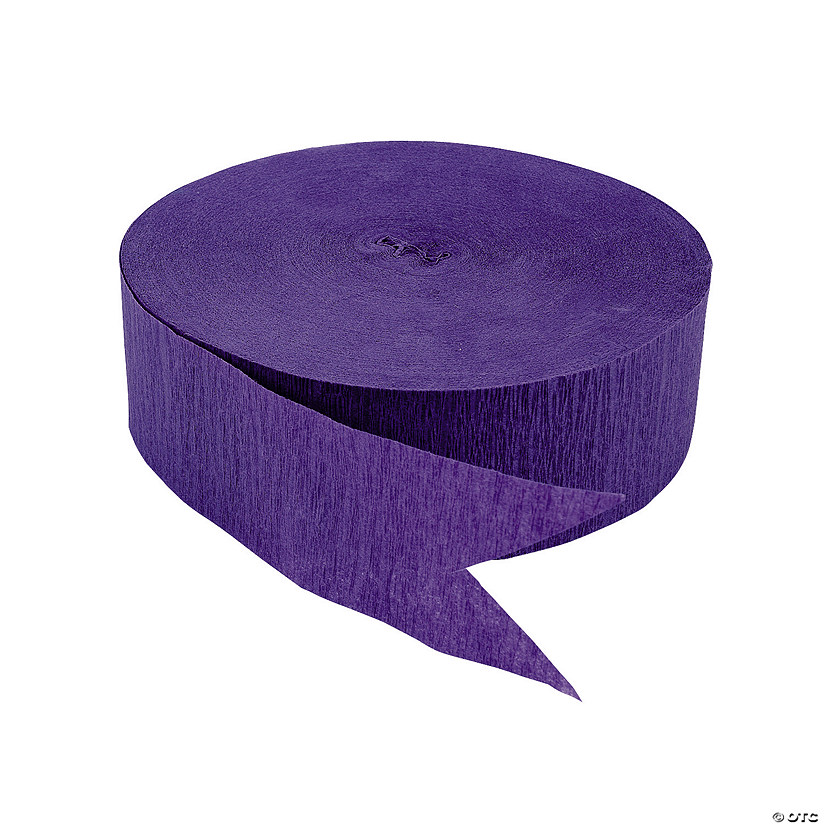 Purple Jumbo Paper Streamer Image Thumbnail