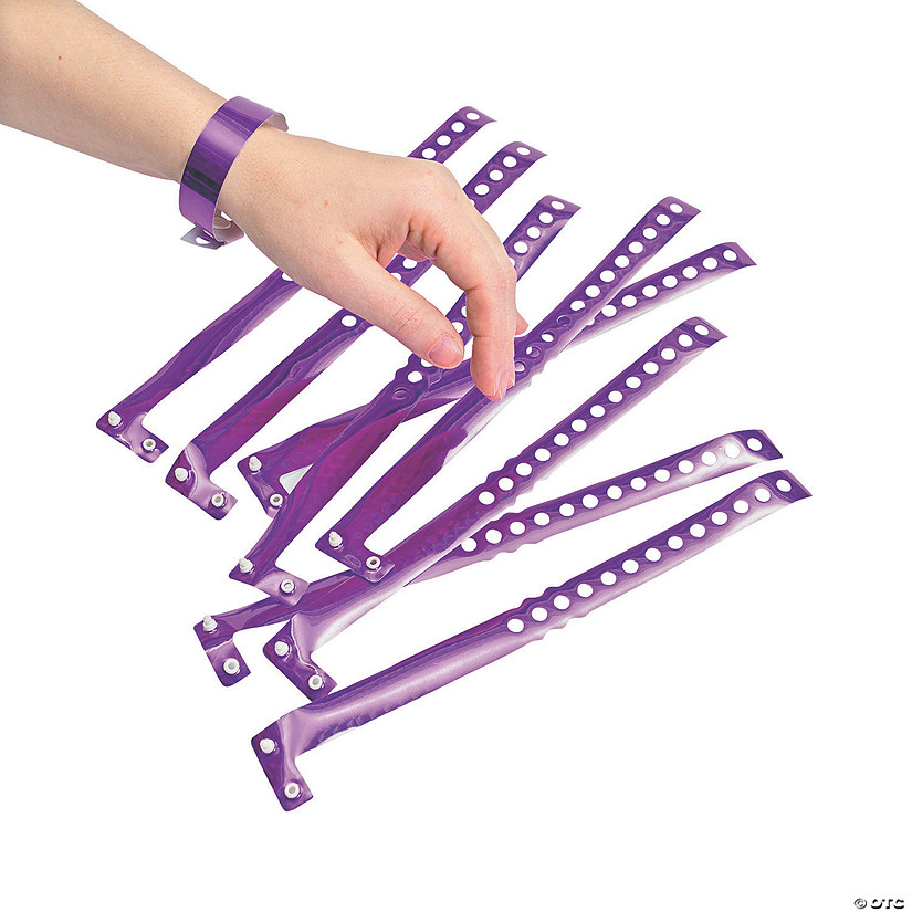 Purple Laser Wristbands