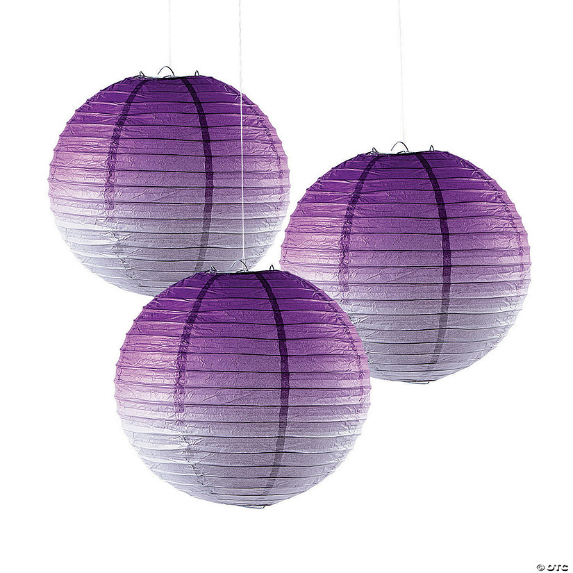 Purple Ombre Hanging Paper Lanterns Audio Thumbnail