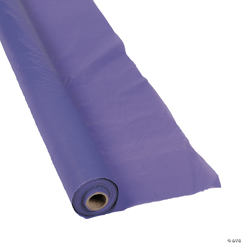 Purple Plastic Tablecloth Roll Image Thumbnail