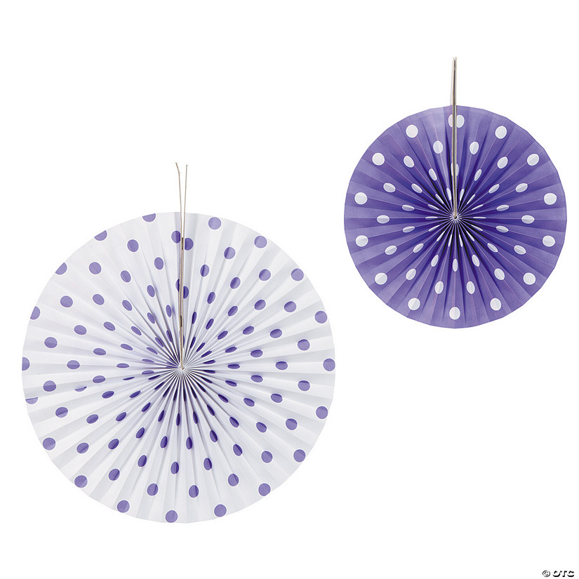 Purple Polka Dot Hanging Fans Audio Thumbnail