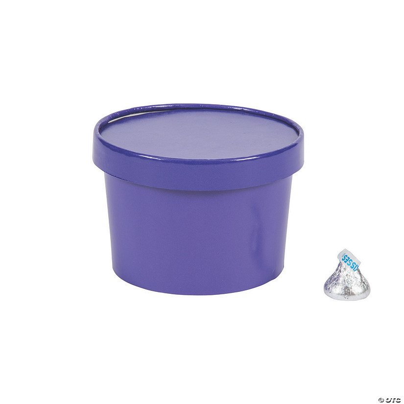 Purple Round Favor Boxes with Lid Image Thumbnail