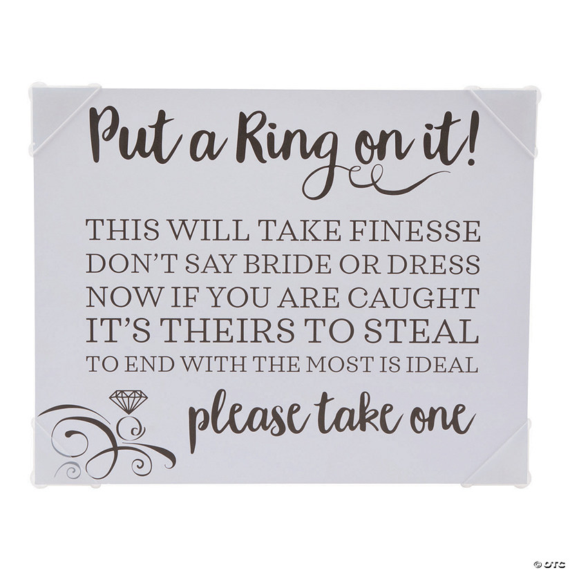 Put a Ring on It Bridal Shower Game Instructions Sign Audio Thumbnail