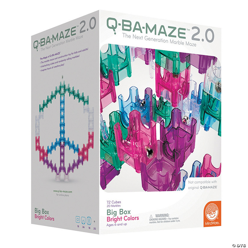 Q-BA-MAZE 2.0: Big Box Bright Colors