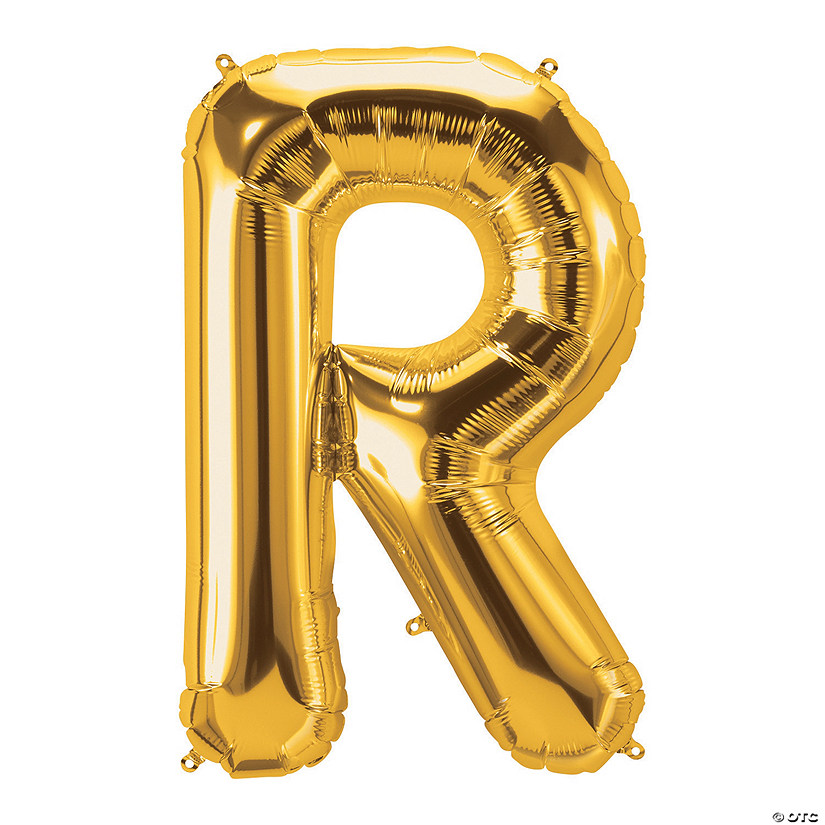 R Gold Letter Mylar Balloon Audio Thumbnail